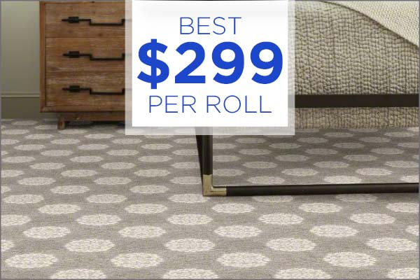 Best carpet remnants $299/roll during our Grand Opening Sale at Abbey Carpet & Floor Outlet!
