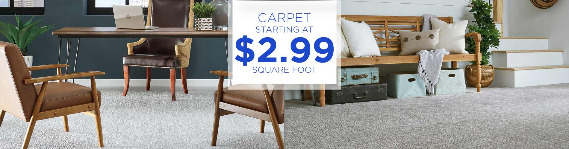 Carpet $2.99 sq.ft. during our Grand Opening Sale at Abbey Carpet & Floor Outlet!