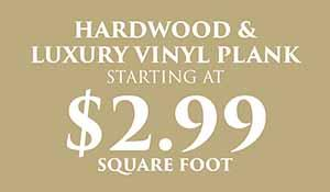 Hardwood Luxury Vinyl Plank Flooring starting at 2.99 sq.ft during the National Gold Tag Sale at Abbey Carpet & Floor in Naples, FL
