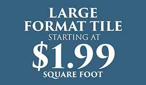 Large Format Tile Flooring End of Summer Sale at Abbey Carpet and Floors