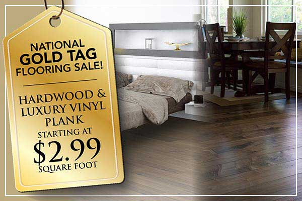 Hardwood & LVP starting at $2.99 sq.ft during our national gold tag flooring sale at Abbey Carpet in Naples