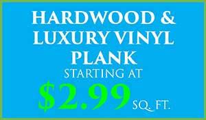 Hardwood and Luxury Vinyl Plank starting at $2.99 sq.ft during our spring fling flooring sale at Abbey Carpet in Naples