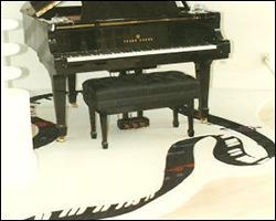Piano room carpeting