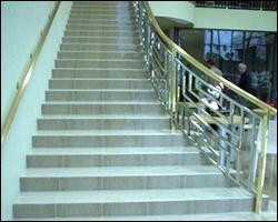 Commercial tile staircase