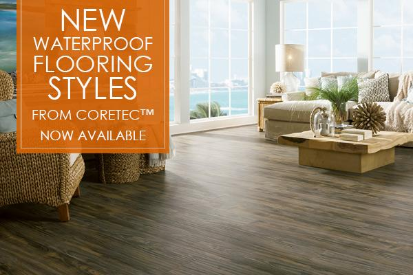 New waterproof flooring styles from COREtec™ now available!