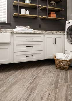 Browse tile and stone flooring.